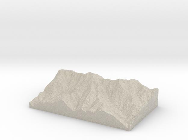 Model of Cucamonga Peak in Natural Sandstone