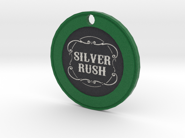 Silver Rush Chip Pendant in Full Color Sandstone