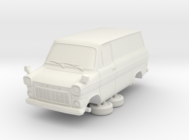 1-64 Ford Transit Mk1 Short Base Van in White Natural Versatile Plastic