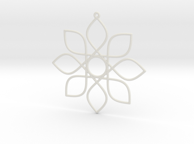 Cosine Ornament in White Natural Versatile Plastic