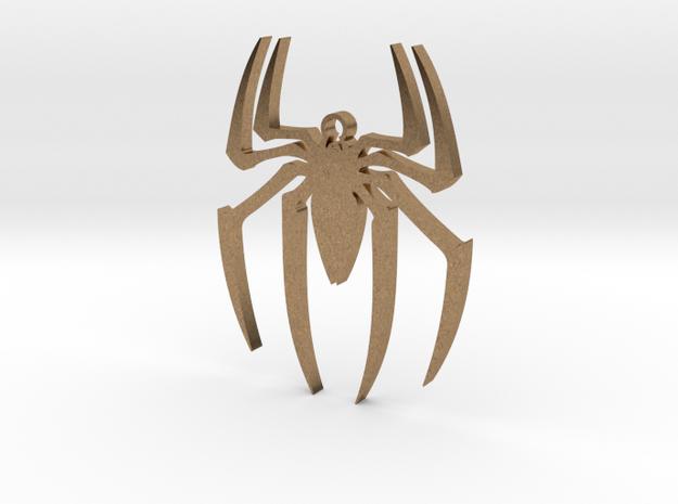 Spider-Man Pendant in Raw Brass