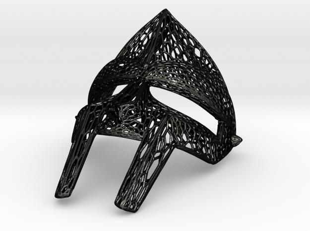 MF Doom Mask By Freshchemist in Matte Black Steel