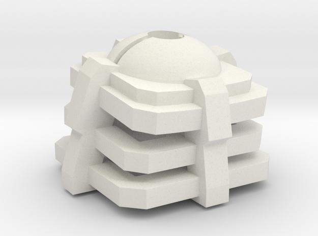 Pokeball mechanical key cap in White Natural Versatile Plastic