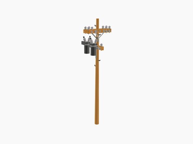 Telephone Poles Single 3d printed Telephone Power Pole