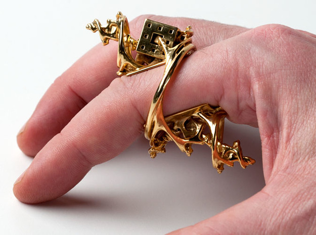 Cosmographic Overdose - Finger Ornament - 20mm 3d printed
