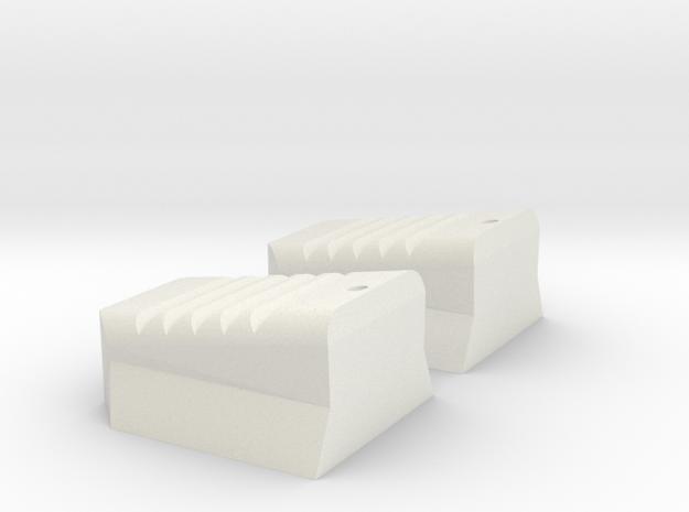 Apollo-A7L-PLSS-Water Valve TABS - (shorter) in White Natural Versatile Plastic