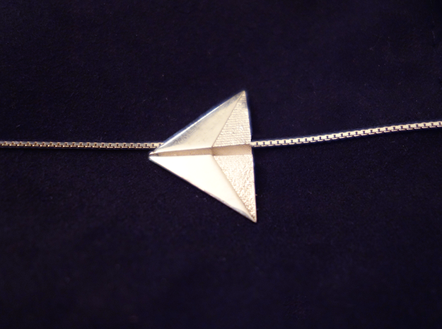 Silver Air Necklace 3d printed