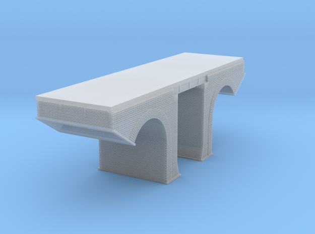 Polish Arched Railroad Bridge Z Scale in Smooth Fine Detail Plastic