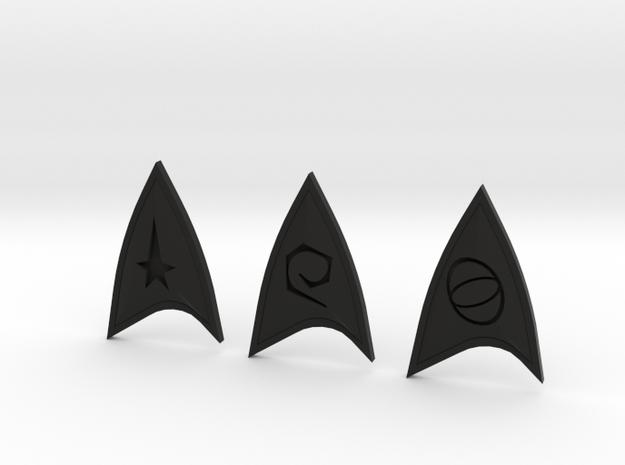 Star Trek Online Combadge Set in Black Natural Versatile Plastic