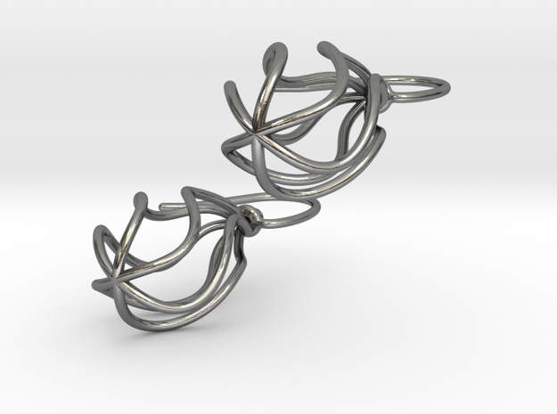 Soft Whirl Pair in Polished Silver (Interlocking Parts)
