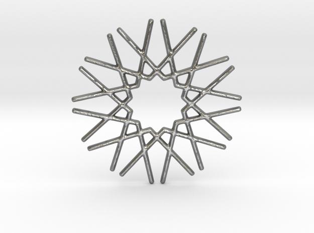 Starfleet Pendant in Natural Silver