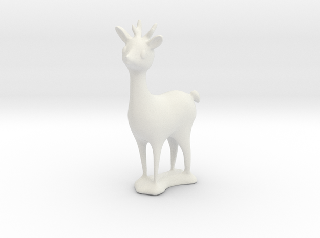 Reindeer for Plastic, Frosted and Raw Metals in White Natural Versatile Plastic