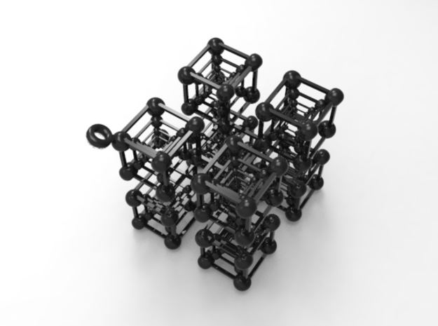 Untouchable Cubes * 5 Formation in Smooth Fine Detail Plastic