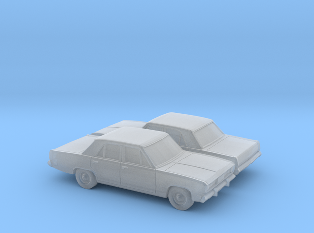 1/160 2X 1970-72 Plymouth Valiant in Smooth Fine Detail Plastic