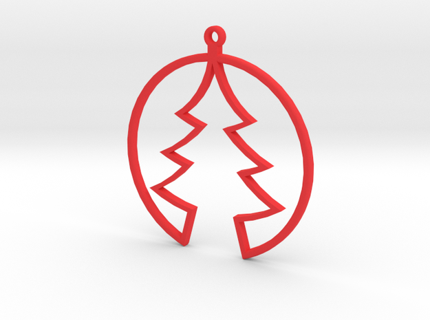 HOLIDAY ORNAMENT 2 in Red Strong & Flexible Polished