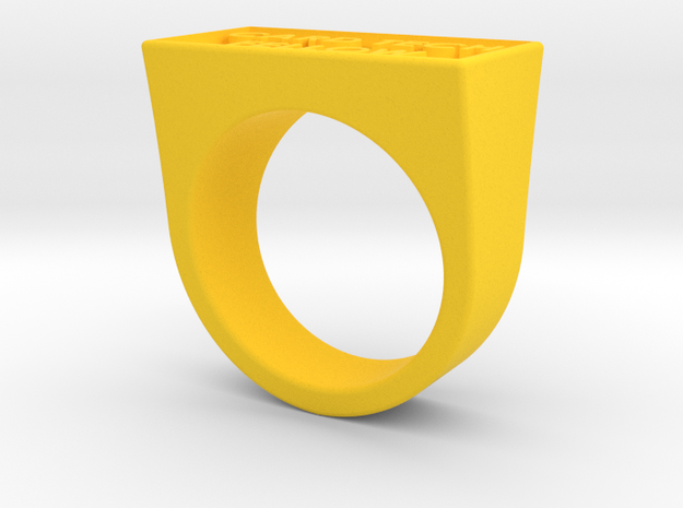 FELLOWS RINGV2 in Yellow Strong & Flexible Polished