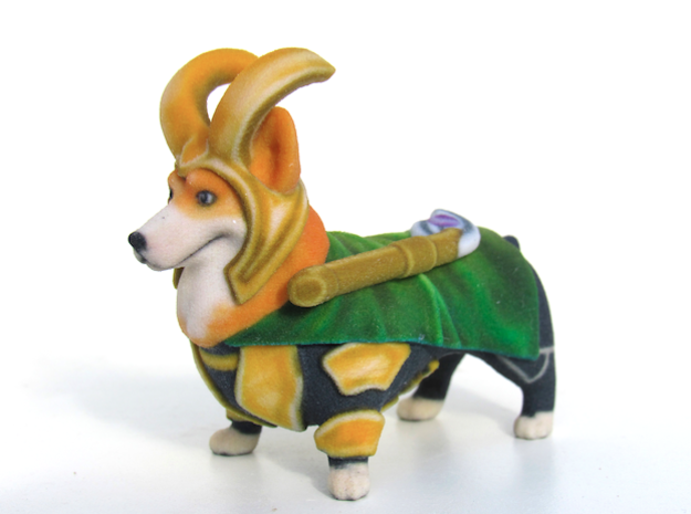 LoCorgi (Loki Corgi)  in Full Color Sandstone