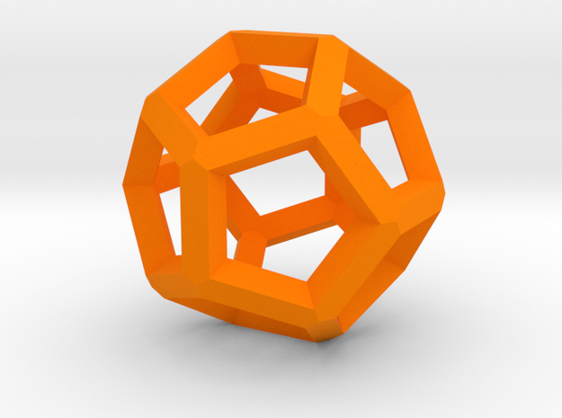Dodecahedron 10 in Orange Strong & Flexible Polished