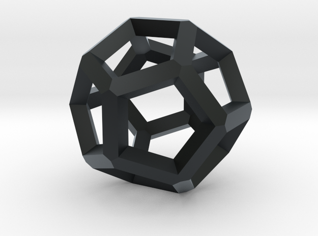 Dodecahedron 5 in Black Hi-Def Acrylate
