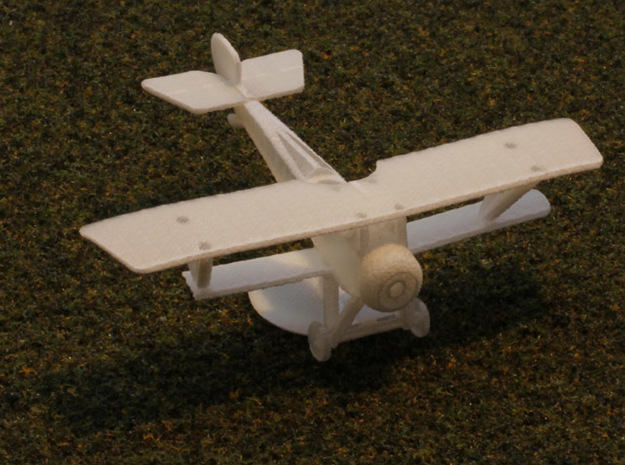 Nieuport 12bis 3d printed with propeller disk as a stand