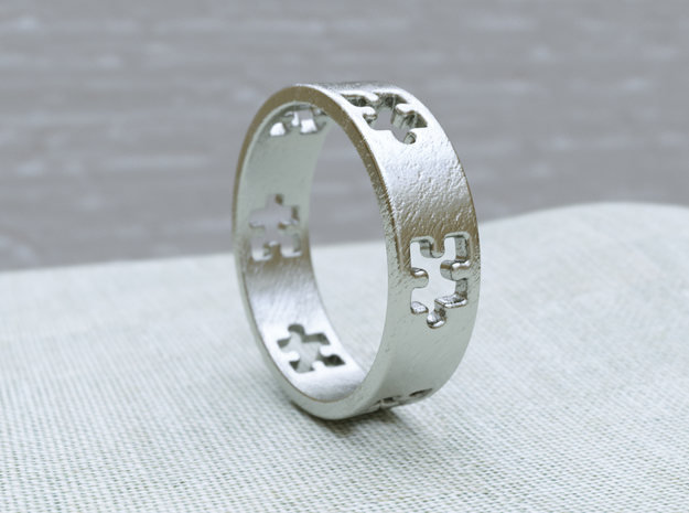 Puzzle Ring in Raw Silver: 8.5 / 58