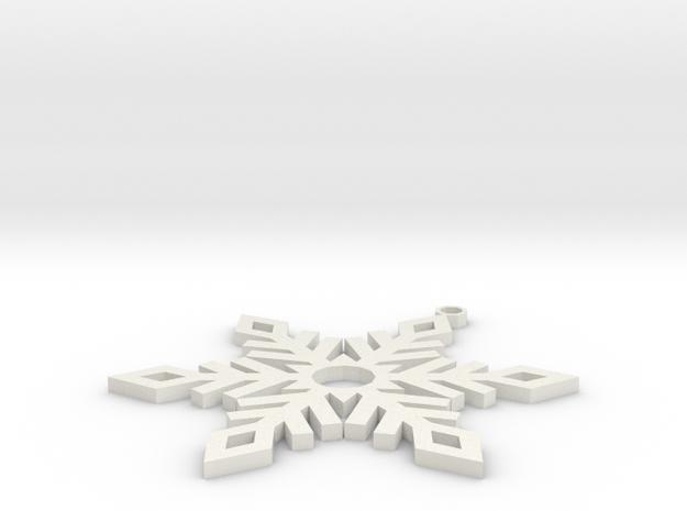 Snow Ornament V2 in White Natural Versatile Plastic