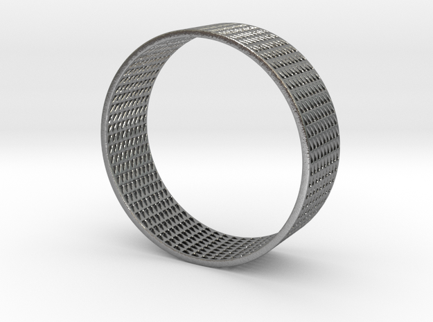 Abstract Bracelet (77 mm-diameter) in Natural Silver