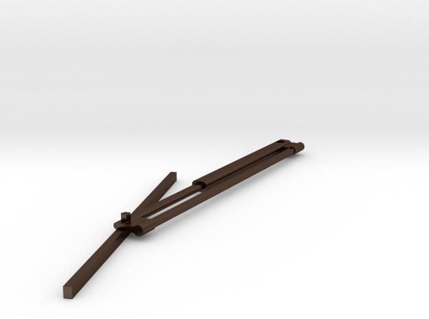 1.5windshieldwiperLeftSide.stl in Polished Bronze Steel
