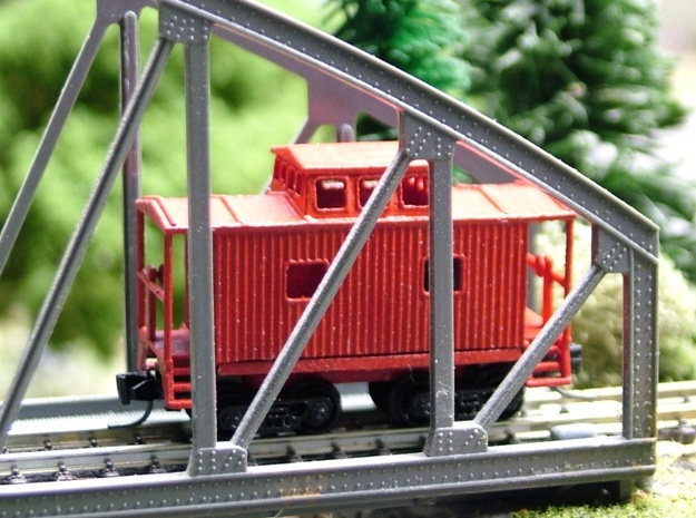 Bobber Caboose - Zscale 3d printed Painting and Photo by Walter Smith (modified for use with regular MTL trucks)