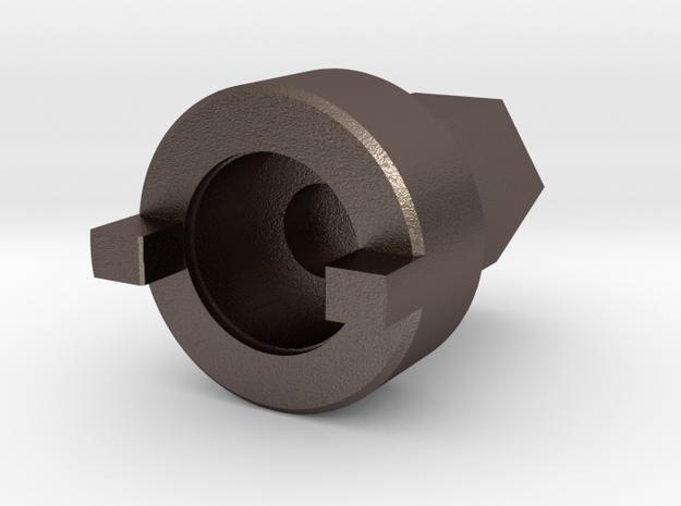 Valve Key D 10mm in Polished Bronzed Silver Steel