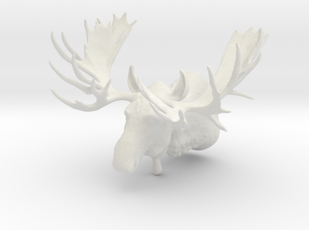 """Hook"" the Moose Shoulder Mount in White Strong & Flexible"