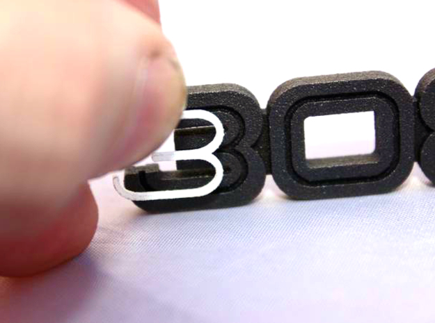 KEYCHAIN LOGO 308 3d printed Plastic inserts for the keychain with the Ferrari 308 logo in Black Steel