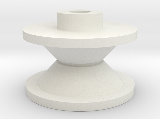 Nakamichi 260T Pulley in White Natural Versatile Plastic