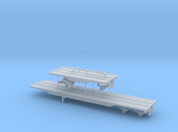 1/87th 40 & 20 foot outside frame flatbed 'A Train