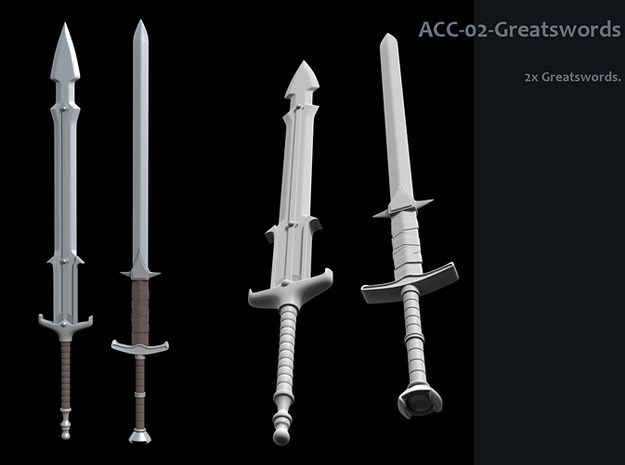 ACC-02-GreatSwords 6-7inch v2.2 3d printed