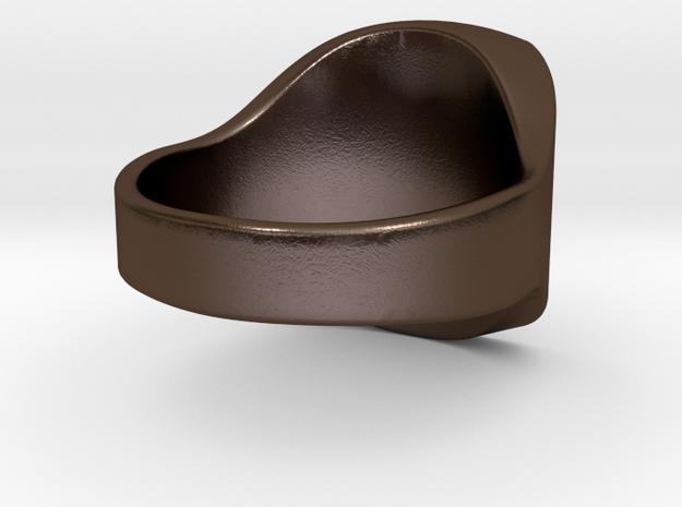 Royal size 8 custom in Polished Bronze Steel