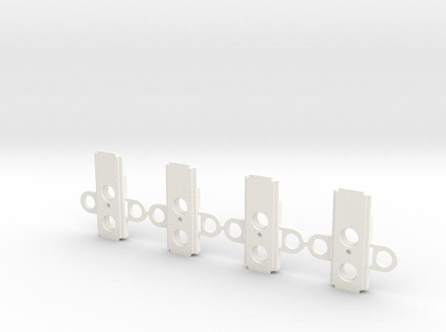 Atlas O Scale Coupler Box Alignment Cover in White Processed Versatile Plastic