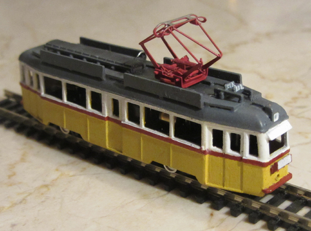 UV Tram From Budapest in 1:160 3d printed Paint, Motorized chassis and Pantograph is not included
