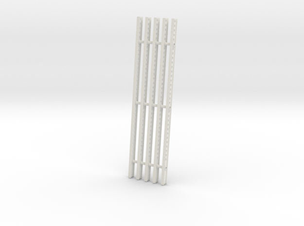 Katyusha Right Rails 1-35 in White Natural Versatile Plastic