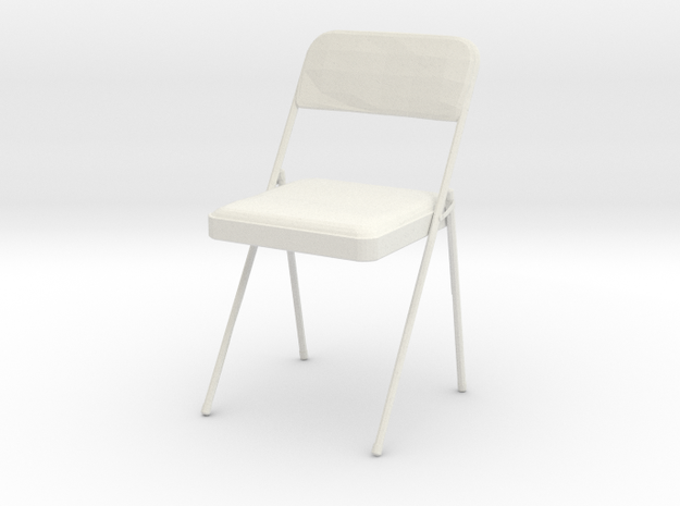 Printle Chaise 07- 1/24 in White Strong & Flexible