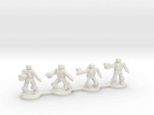 Bullsnake Battle Armor Squad in White Natural Versatile Plastic