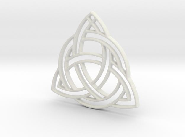 Celtic Pendant in White Strong & Flexible