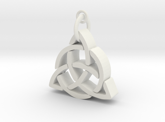 CelticKnot necklace in White Natural Versatile Plastic