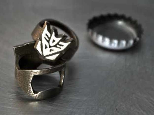 Decepticon Ring - Bottle Opener band or regular in Stainless Steel