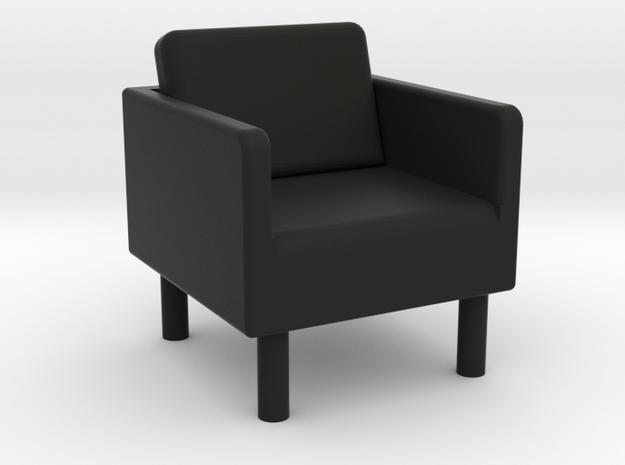 EKERÖ Chair - HO 87:1 Scale in Black Natural Versatile Plastic