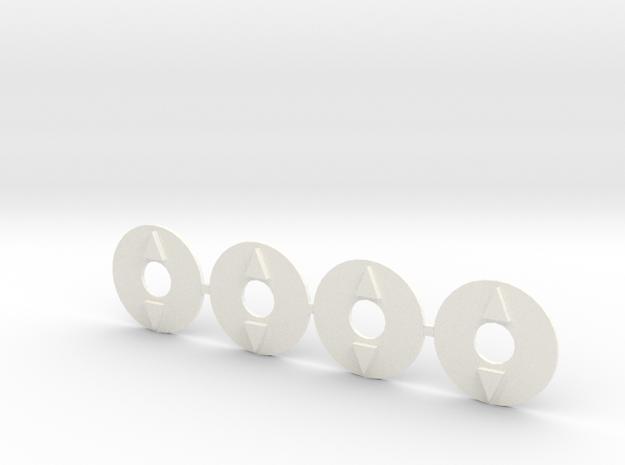 Slider4pack in White Processed Versatile Plastic