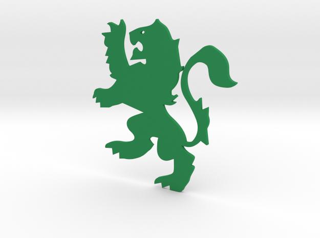 Lion Flat in Green Processed Versatile Plastic