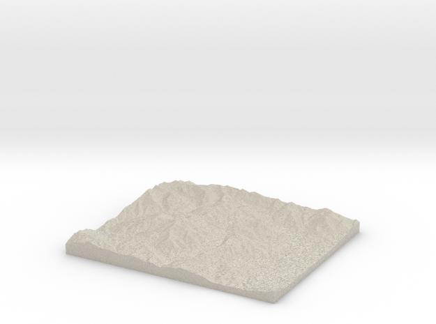 Model of Pot Hollow in Natural Sandstone