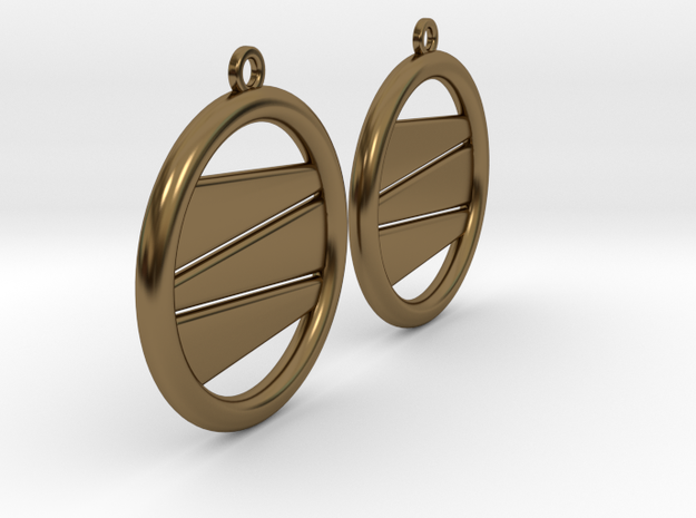 Earring GP Pair in Polished Bronze