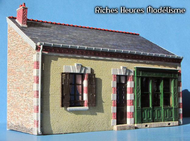 OviM22 - Modular city house N°3 in Smooth Fine Detail Plastic